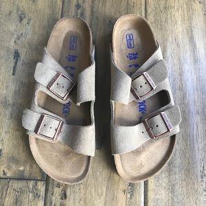 Birkenstock Arizona sandals tan suede 36 6